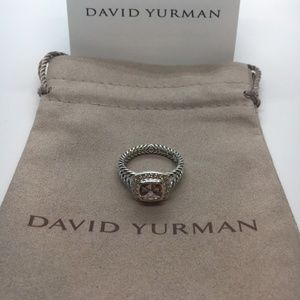 David Yurman Morganite Petite Albion RIng Size 7